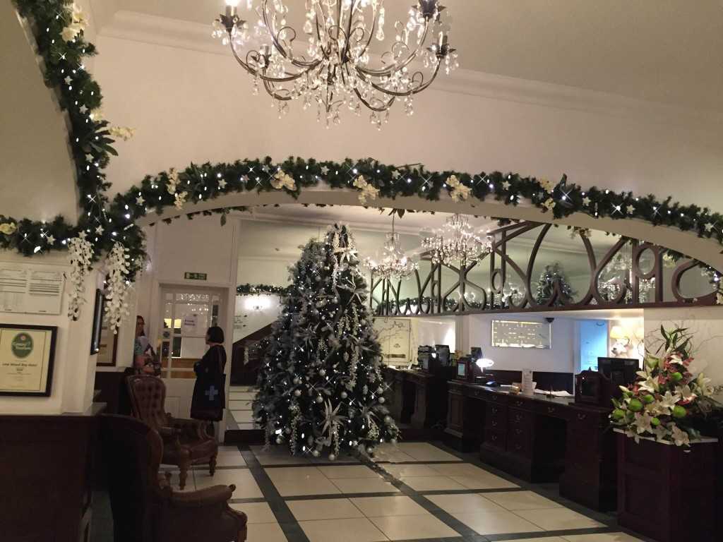 Low Wood Hotel tree and garland