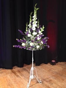 pedastal arrangement for an event